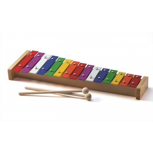 Coloured Metal L Xylophone (15 Tone)