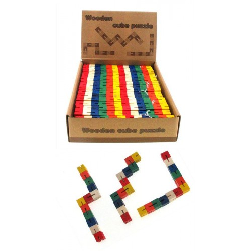 Wooden Puzzle Snake
