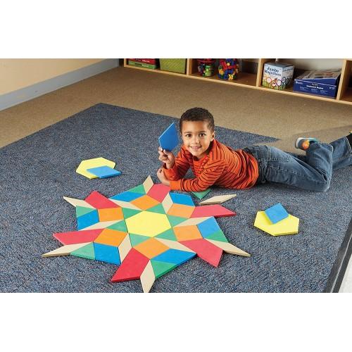 Giant Foam Floor Pattern Blocks