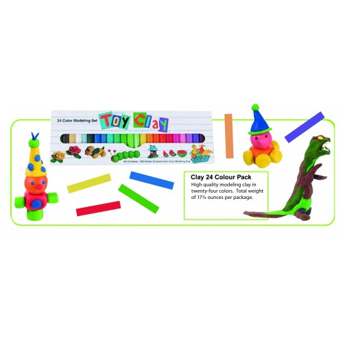 Rainbow Modeling Clay (24 Colour Pack)