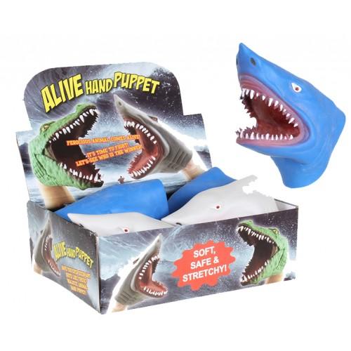 Soft Rubber Realistic Hand Puppet Shark