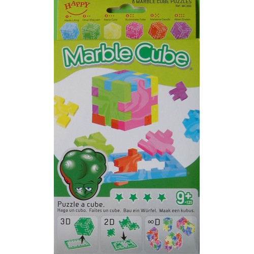 Happy Cube- Marble  (3D Puzzle 6 Pack) Ages 9+