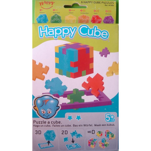 The Happy Cube - (3D-Puzzle 6 Pack) Ages 5+