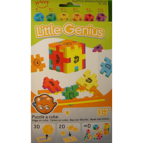Happy Cube- Little Genius (3D Puzzle 6 Pack) Ages 3+