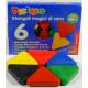 Wax Magic Triangle Crayons (Set of 6)