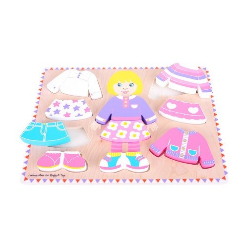 Dressing Girl Wooden Puzzle