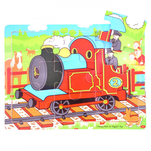 Tray Wooden Puzzle Train