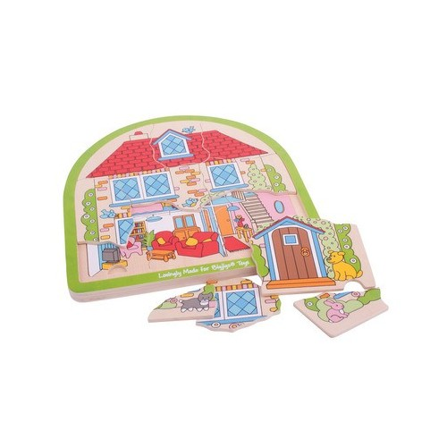 House Arched Wooden Puzzle (33 pcs)