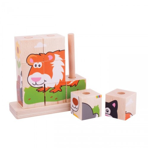 Stacking Wooden Blocks (Pets)