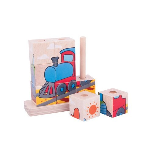 Stacking Wooden Blocks (Transport)