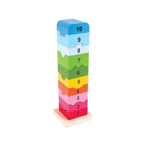 Wooden Number Stacking Tower