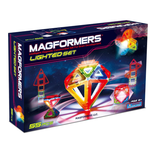 Magformers LED Lighted Set (55 pce)