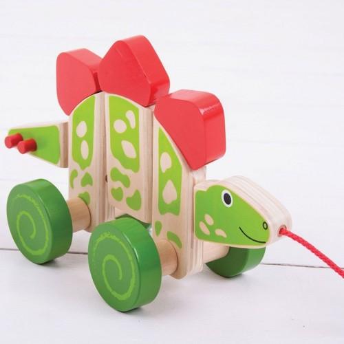 Pull Along Wooden (Stegosaurus)