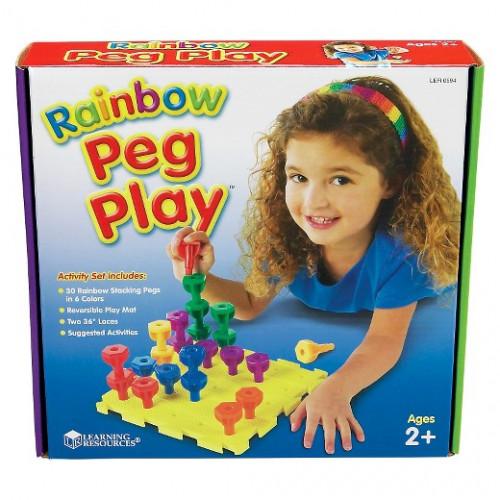 Rainbow Peg Activity Set