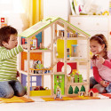 All Seasons Wooden Dollhouse -Furnished