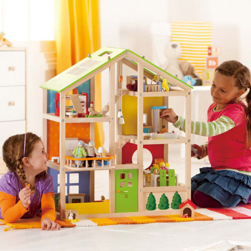 All Seasons Wooden Doll House (Furnished)