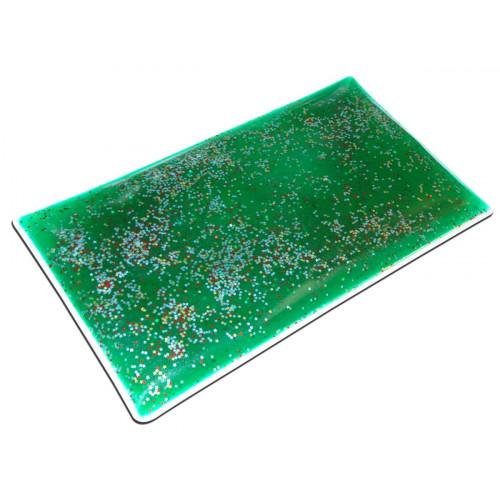 Glitter Gel Weighted Rectangular Lap Pad - Green