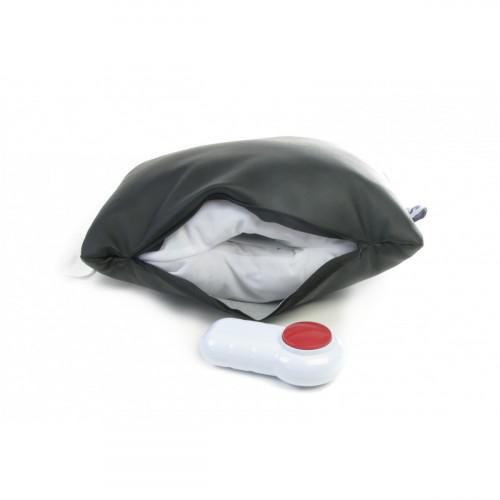 Senseez Deluxe Vibrating Sensory Pillow - Black Vinyl