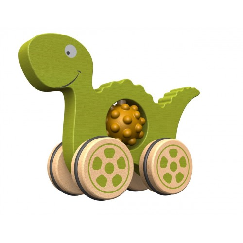 Nubble Rumblers - Wooden & Rubber Dino Push Toy
