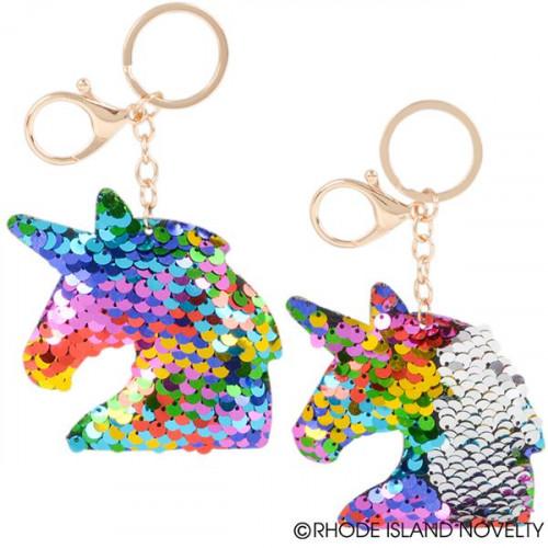 """Sequin Sea Unicorn Keychain (3.33"""")"""
