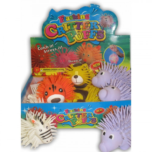 "4"" Zoo Animal Puffers (Squishy Critters)"
