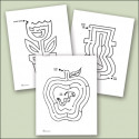 Raised Line Seasonal Mazes Large (Set of 12)