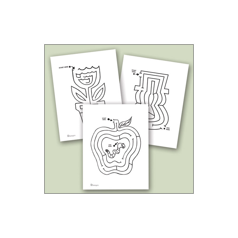 Raised Line Seasonal Mazes Set