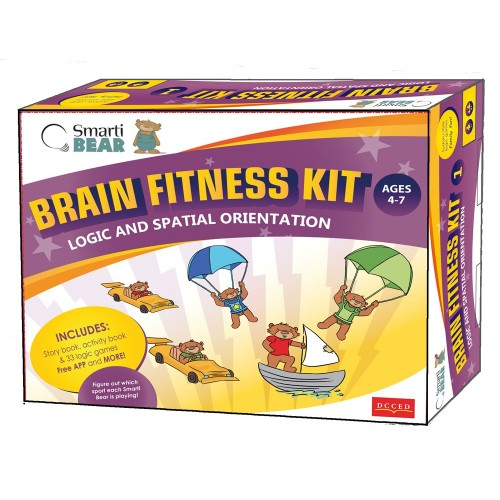 Smarti Bears Brain Fitness Kit 1: Spatial Orientation & Logic Mulitlingual Game Set