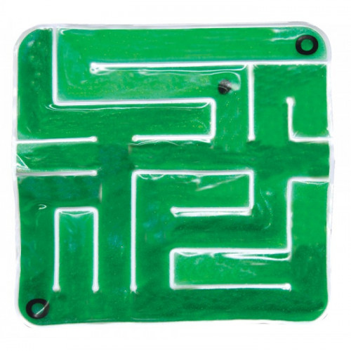 Green Gel-Maze with Marbles- Skil-Care