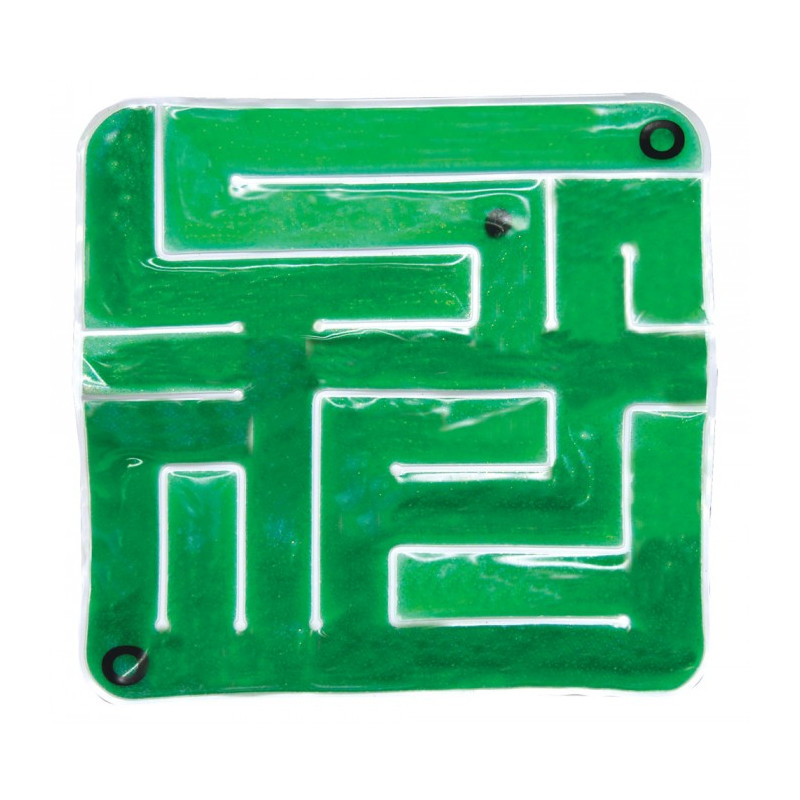 Green Gel-Maze with Marbles