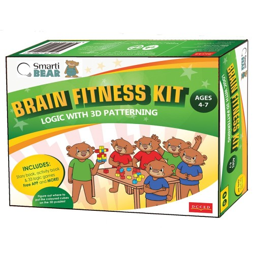 Smarti Bears Brain Fitness Kit 3: 3D Patterning & Logic Multilingual Game Set