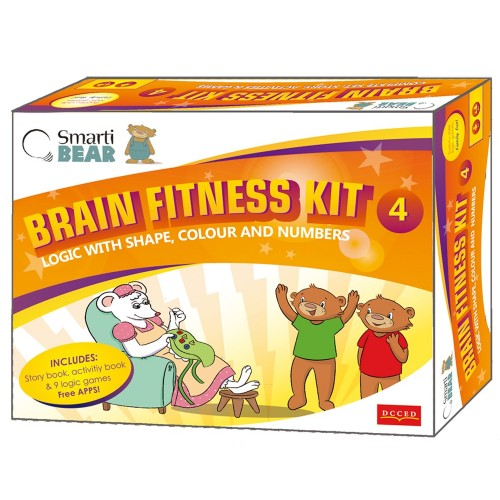 Smarti Bears Brain Fitness Kit 4: Shape, colour, numbers & Logic Multilingual Game Set