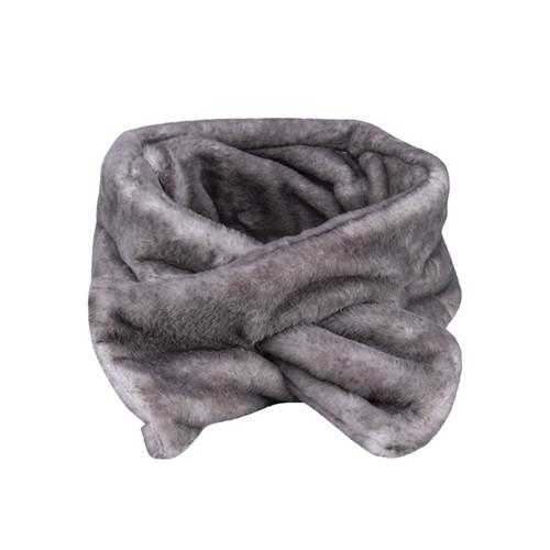 Luxe Faux Fur Warming Neck Scarf - Lavender & Tourmaline