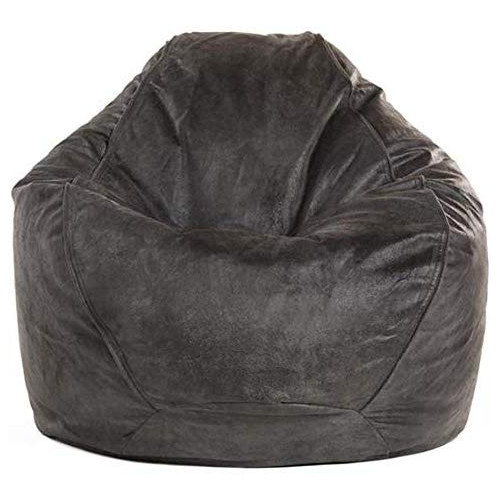 Adult Pear Shape Faux Leather Beanbag Chair