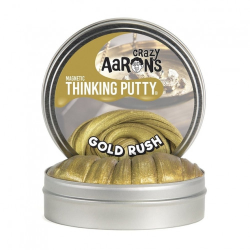 """Crazy Aaron's  Gold Rush Magnetic Thinking Putty (4"""" Tin)"""