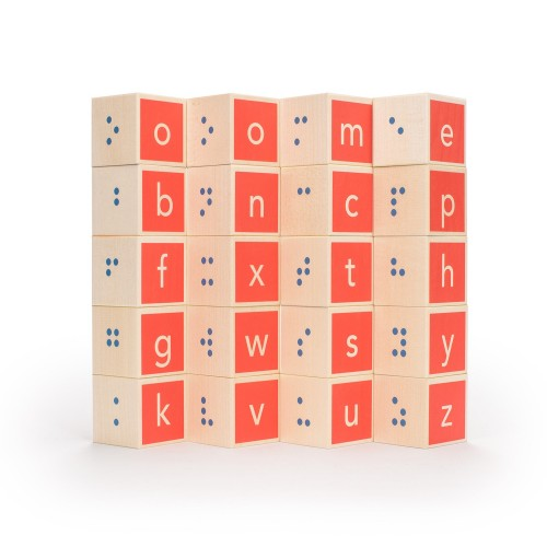 Handcrafted Braille Alphabet Blocks