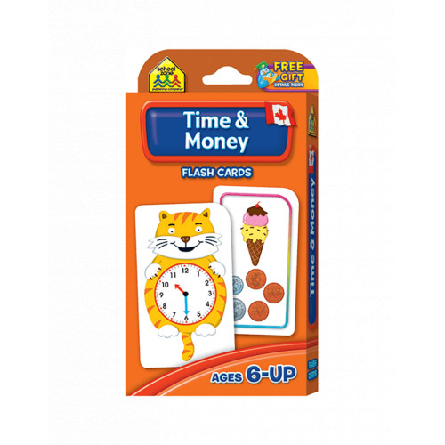 School Zone Canadian Time and Money Flash Cards