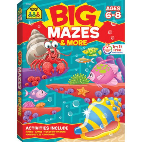 Big Mazes  Workbook (Grades 1-3)
