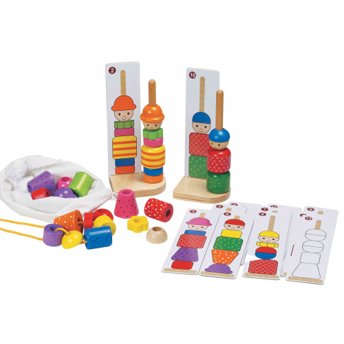 Jumbo Sequence Stacker Wooden Matching Game