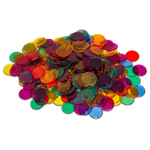 Transparent Counters Set (250 pieces)