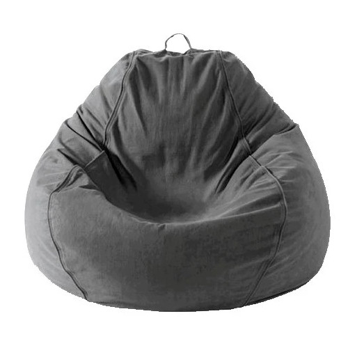 Adult Pear, Twill, Charcoal Grey Beanbag