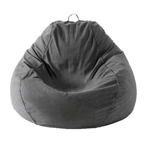 Adult Pear, Twill, Charcoal Grey Beanbag