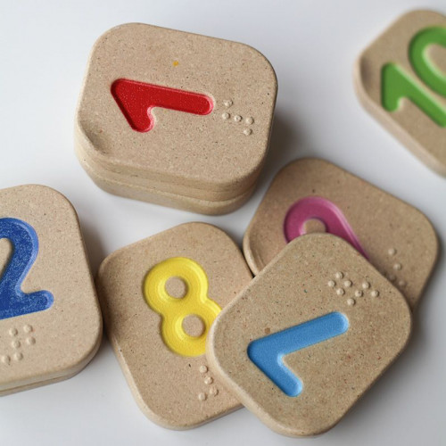 Plan Toys Braille Numbers 1-10
