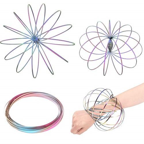 Spin Flex Rainbow Ring Toy