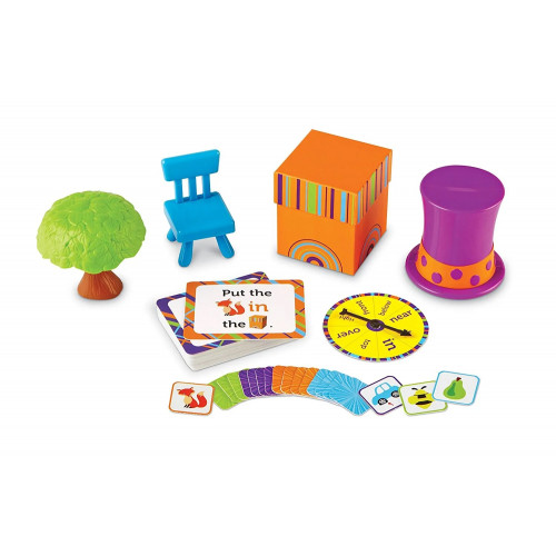 Fox in the Box Positional Words Activity Set