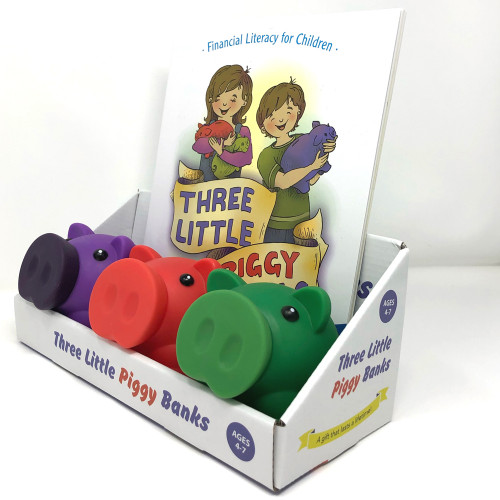 Three Little Piggy Banks (Book & Three Piggy Banks)