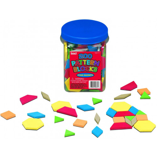 Magnetic Foam Pattern Blocks (200 pce)