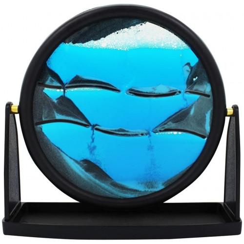 "Zen Sands Ocean Blue Round Large (9"")"