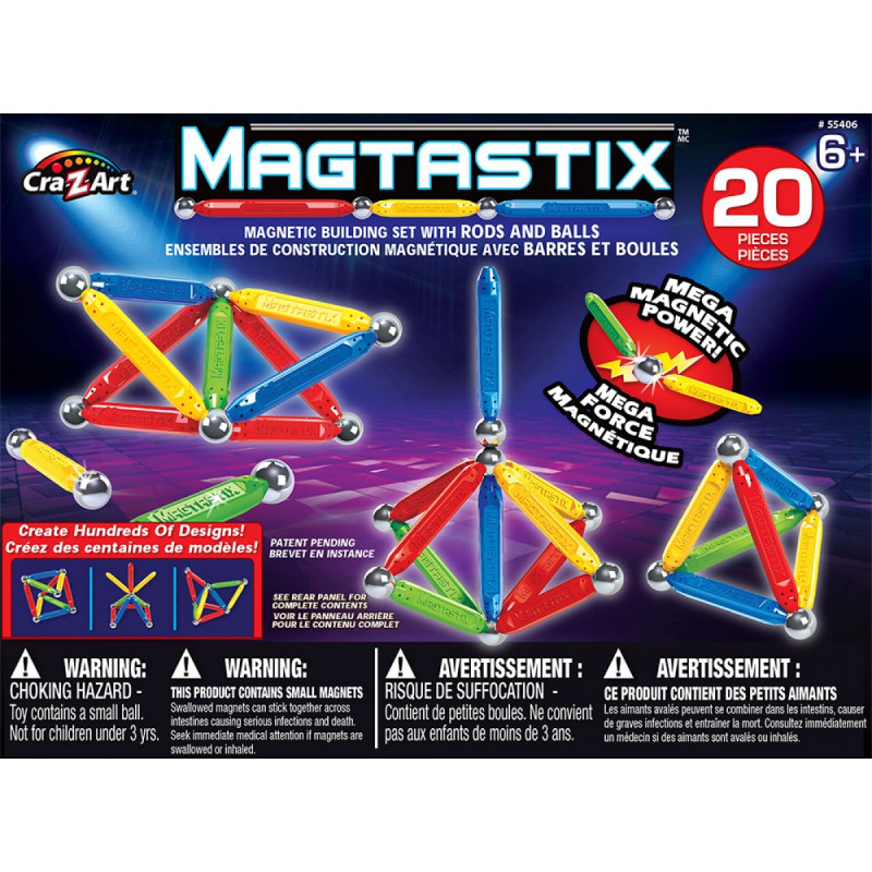 Magtastix 20 Piece Balls and Rods