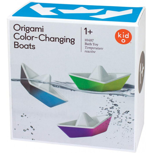 Colour Changing Origami Boats